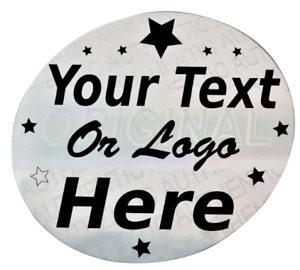 Hologram Labels Personalized Sticker Warranty Void If Removed Tamper Proof 20 Mm