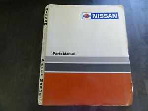 Nissan Wcn 30 tth Forklift Parts Manual