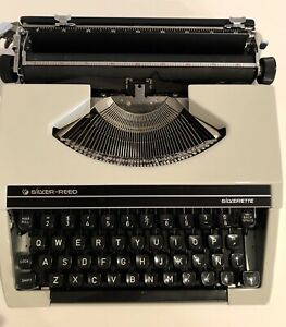Silver reed Silverrette Typewritter Silver Seiko Ltd Made In Japan No 10650626