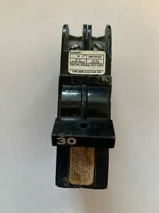 Federal Pacific 30 Amp 2 Pole Stab Lok 1 Thin Circuit Breaker Tested