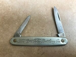 Coca Cola Stainless Pocket Knife marked Cutlery Co. N. Y. City