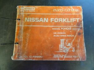 Nissan Kh02 Forklift Parts Catalog Manual C f260u