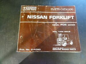 Nissan F05 Forklift Parts Catalog Manual C f090