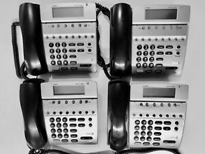 Nec Dterm 80 Office Desk Telephone Dth 8d 2 bk tel W Handsets Stand lot Of 4