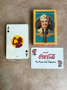 1943 Coca Cola Stewardess Wings Deck Playing Cards Complete with 1 Joker