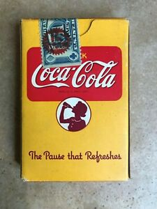 1943 Coca Cola Stewardess Wings Deck Playing Cards Sealed with Tax Stamp