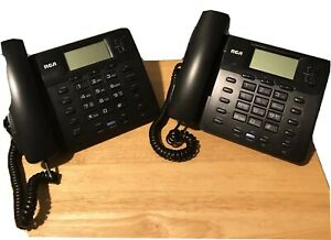 Office Phones Rca 2 line Pre Owned Good Condition Includes 2 Business Phones