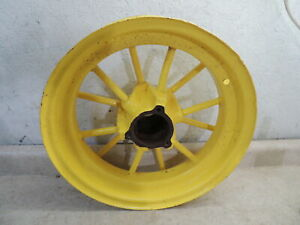 John Deere Unstyled Front Spoke Rims 16 Nice Rare G A 12 Round Spokes Jd