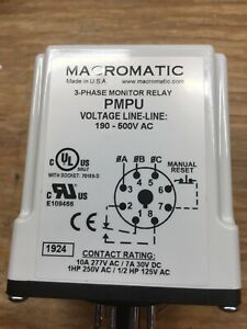 Macromatic Voltage Monitor Relay Vmp120a 70169 d