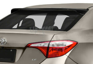 For 2014 2018 Toyota Corolla Black Acrylic Rear Window Roof Visor Spoiler Wing