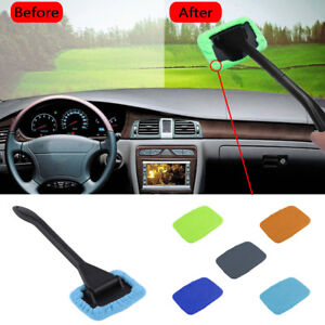 Microfiber Windshield Clean Car Auto Wiper Cleaner Glass Window Handed Brush Pad