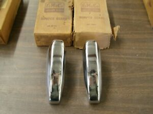 Nos Oem Ford 1952 1953 1954 Station Wagon Rear Bumper Guards Sedan Delivery Pair