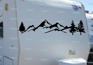 Graphics Mountain Forest Tree Graphic Vinyl Decal For Rv Trailer Camper Truck