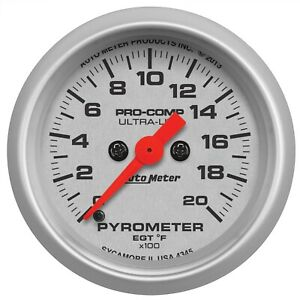 Autometer 4345 Ultra Lite Electric Pyrometer