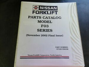 Nissan F03 Series Forklift Parts Catalog Manual Cf160 ubook 2002
