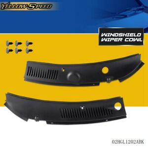 New Windshield Wiper Cowl Vent Grille Panel Hood 2pcs For 1999 2004 Ford Mustang