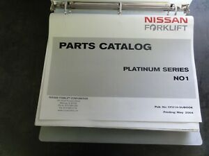 Nissan N01 Forklift Parts Catalog Manual Cf210 subook