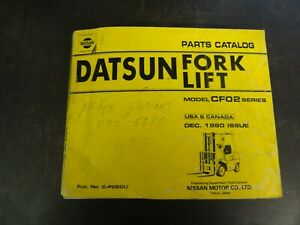 Nissan Datsun Cf02 Forklift Parts Catalog Manual 1980