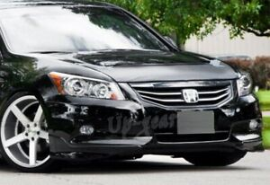 For 2011 2012 Honda Accord 4 Dr Oe Style Painted Black Front Bumper Aprons Lip