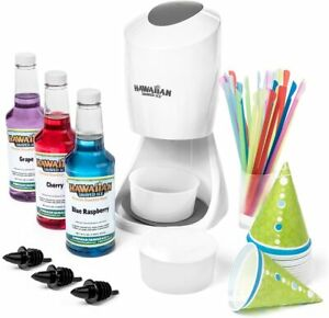 Hawaiian Shaved Ice S900a Shaved Ice And Snow Cone Machine With 3 Flavor Syrup