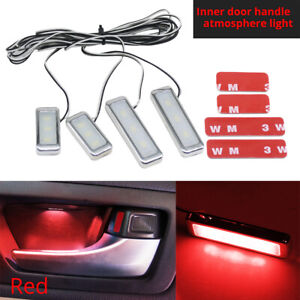 Red Led Atmosphere Light Car Door Handle Armrest Lights Interior Decoration Lamp