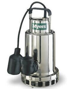 Myers Sump Pump Ds50p1 1 2 Hp 115v New Stainless Steel Ds Series