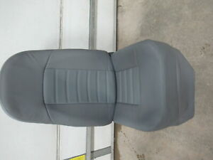 97 08 Chevy Express gmc Savana Van Gray Leather Lh Drivers Bucket Seat