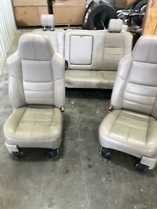 1999 2010 Ford F250 F350 F450 Superduty Grey Lariat Leather Seats Front Rear