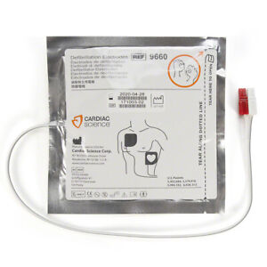 Cardiac Science Polarized Adult Pads For Powerheart G3 Pro Aed 9660 Electrodes