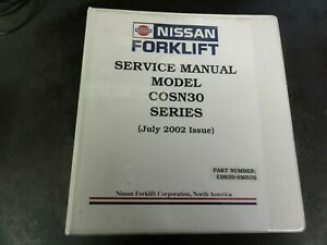 Nissan Cosn30 Forklift Electric Counterbalanced Selector Service Manual 2002