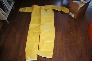 lot 12 Dupont Tychem Qc Coveralls Chemical Resistant Yellow 2xl