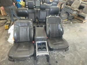 11 16 Ford F250 F350 Front Rear Seat Console Black Leather Lariat Power