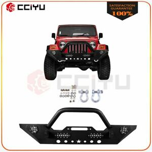 For Jeep Wrangler Jk 2007 2018 Front Bumper Complete Steel New Style