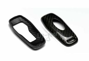 For Ford Mustang Real Carbon Fiber Smart Remote Key Shell Cover Case 3 4 Button