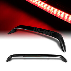 For 1996 2000 Honda Civic Coupe Painted Black Rear Trunk Spoiler Wing Led Brake