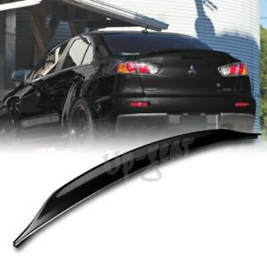 For 08 17 Mitsubishi Lancer Evo 10 Abs Painted Black Rear Trunk Duck Lid Spoiler