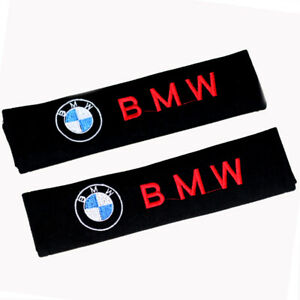 1 Pair Car Seat Belt Shoulder Pads Strap Covers Cushion For Bmw