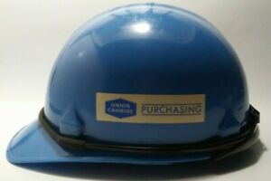 Vintage Union Carbide Jackson Hard Hat blue