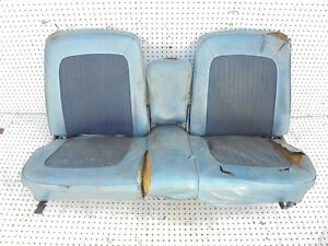 1968 Mustang Front Bench Seat With Fold Down Arm Rest Seat Tracks