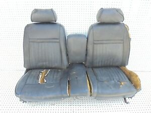 1969 Mustang Cougar Front Bench Seat With Arm Head Rest Seat Tracks