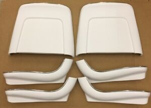 1966 Chevelle El Camino Ss 396 Ss Malibu Seat Backs White J 38016 In Stock