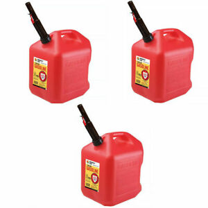 Gas Cans 5 Gallon Each 3 Pack Plastic Will Not Corrode Or Rust Brand New
