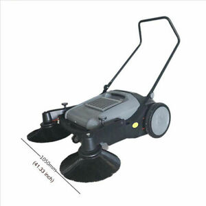 41 Width Push Power Pavement Sweeper Walk behind Sweeper Streen Factory Clean