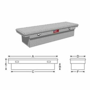Rds 71380 Automotive Toolbox Low Profile Full Size 69 Len 20 Width 13 Height