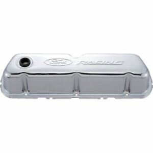 Proform 302 070 Engine Valve Covers Tall Style Steel Chrome For Sb Ford New