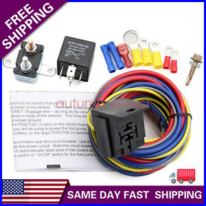 New 40205g Electric Fuel Pump Harness And Relay Wiring Kit With Instructions