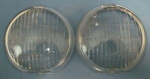 Nos Pair Of Guide Fog Light Lenses Original 45 8 1942 1948 Chevrolet And Others
