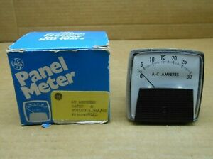 1 Nib Ge 250240nlnl Meter Current Panel Mount 2 5 30a 30 Amp Ac 2 Avail