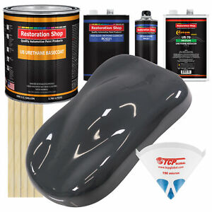 Machinery Gray Gallon Urethane Basecoat Clearcoat Car Auto Paint Kit