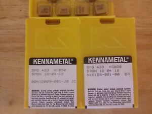 10 Pcs Spg 433 Kennametal Kc850 Carbide Inserts